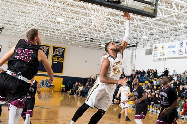 25d1a1dd Men's Basketball Contains High-Flying Adelphi, Leaves Long Island with  81-77 Win
