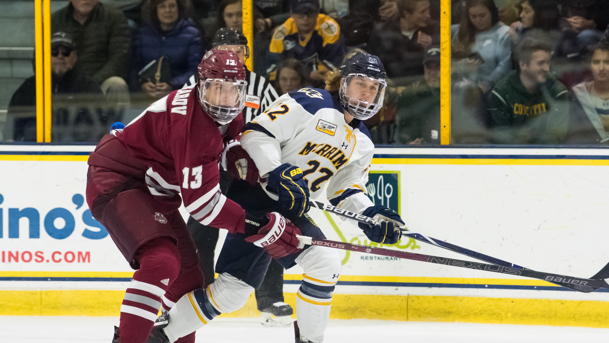 Men S Ice Hockey Dropped By Bu Monday Merrimack College Athletics